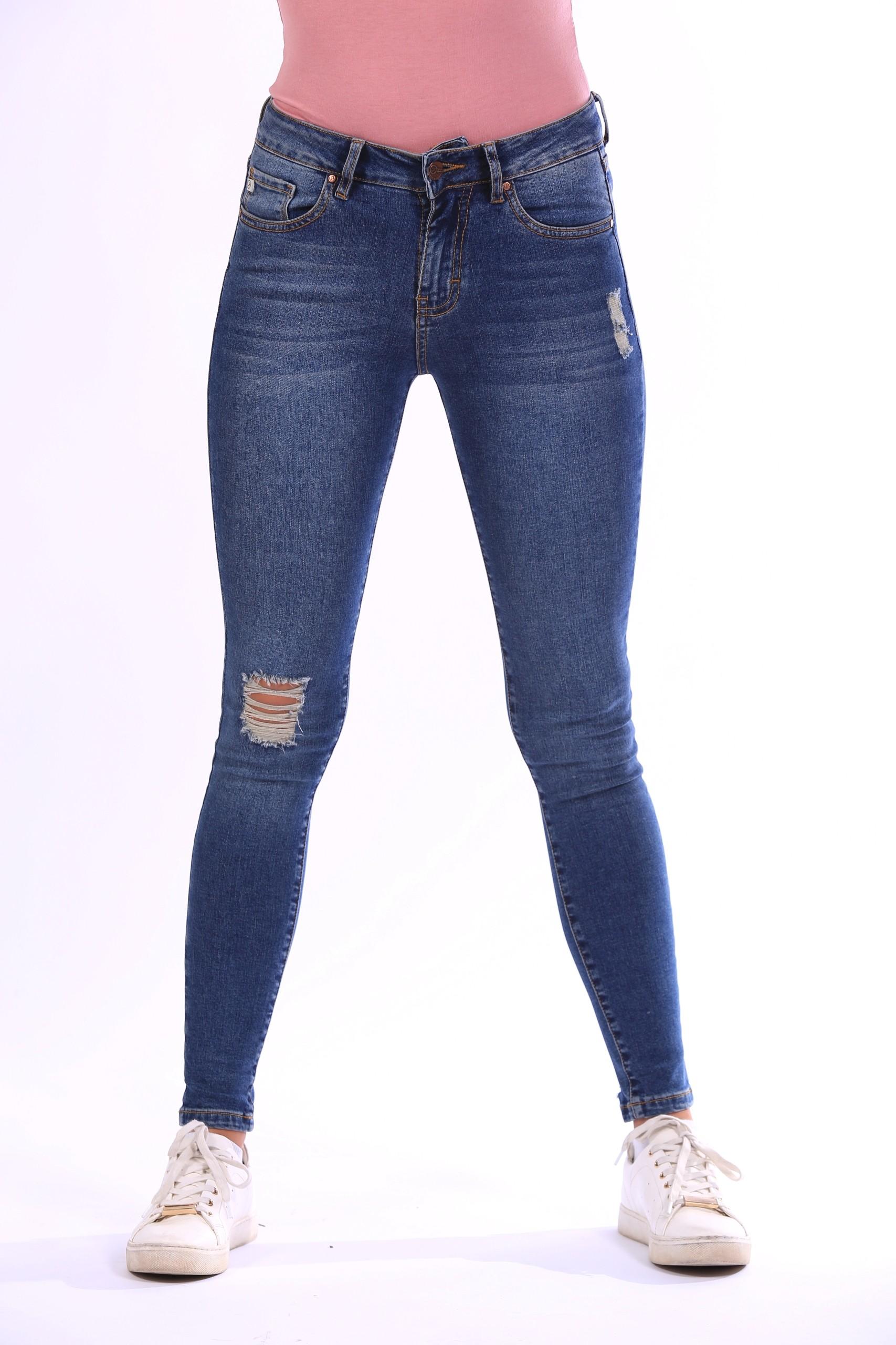 Jeans Moda Slim Rotos La Casa Del Jean